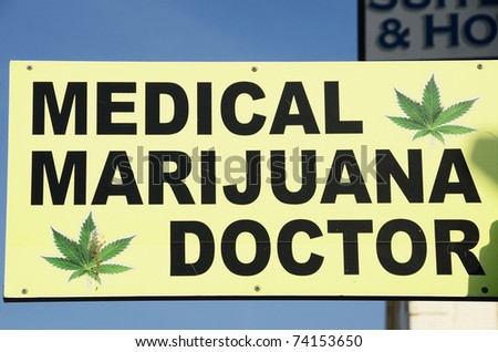Marijuana Doctor on Venice Beach near Los Angeles California - stock photo