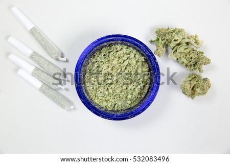 marijuana overhead of  bud and...