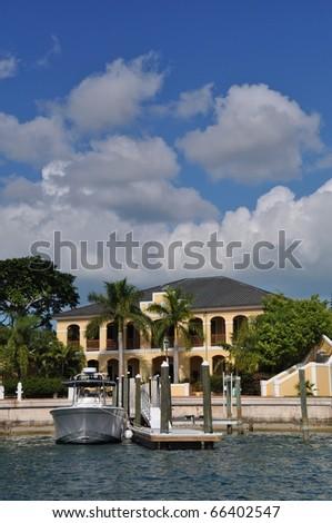 Marina and houses at Port Luyaca, Freeport, Grand Baha Island, Bahamas
