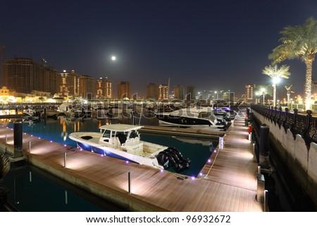 Marina at The Pearl in Doha, Qatar. Photo taken at 8th January 2012