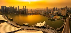 Marina bay at sunset