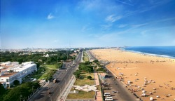 Marina Beach chennai city tamil nadu india bay of bengal