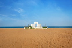 Marina Beach chennai city tamil nadu india bay of bengal chennai tourism east coast road Schmidt Memorial in Elliot's Beach in Chennai City