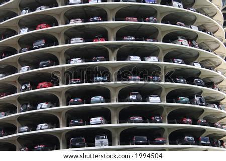 Marina city parking levels detail