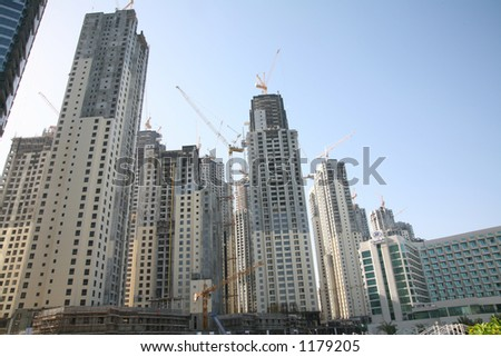 Marina complex under construction in Dubai