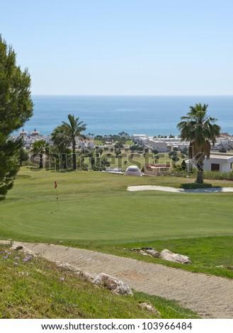 Marina Del Torre Golf Course, Mojacar, Almeria Province, Andalusia, Spain - stock photo