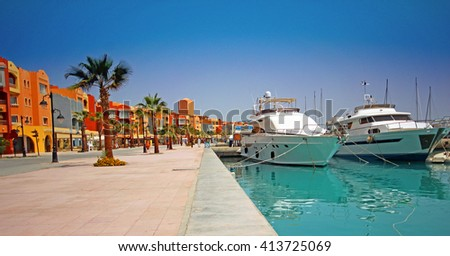 Marina, Hurghada, Egypt. #413725069