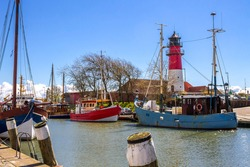Marina in Buesum, Schleswig-Holstein, Germany