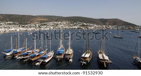 Marina in the resort of Bodrum Turkey