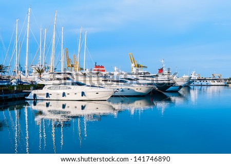 Marina in Valencia, Spain, Mediterranean sea. #141746890