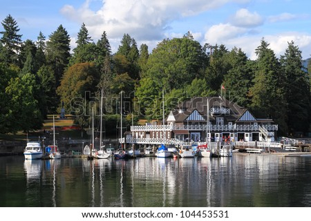 Marina in Vancouver Stanly Park. Vancouver, British Columbia. Canada