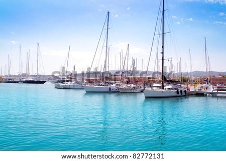 Marina port in Palma de Mallorca at Balearic Islands Spain