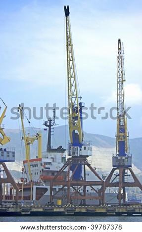 Marine cargo port - stock photo
