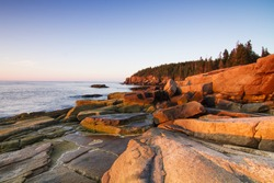 Marine landscape in Acadia, Park Loop Road, Acadia National Park, Maine