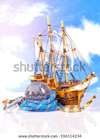 marine sailing ship statue