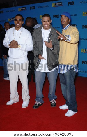 MARIO (left), CHRIS BROWN & CHINGY at the 2005 Billboard Music Awards at the MGM Grand, Las Vegas. December 6, 2005  Las Vegas, NV  Paul Smith / Featureflash