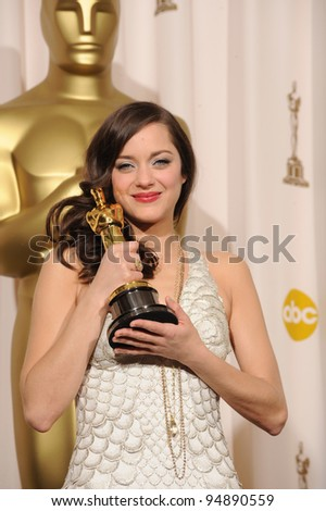 Marion Cotillard at the 80th Annual Academy Awards at the Kodak Theatre, Hollywood. February 24, 2008 Los Angeles, CA Picture: Paul Smith / Featureflash
