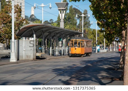 Maritime Avenue with Trams in San Francisco #1317375365
