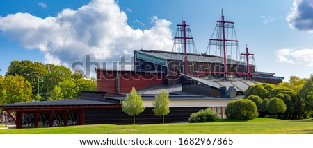 Photo of  Maritime Vasa Museum, the most visited museum in Scandinavia, on the island of Djurgarden in Stockholm, Sweden.