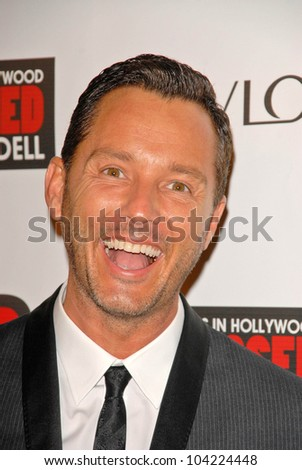 """Mark Liddell at the debut of Mark Liddell's """"Exposed: 10 Tears In Hollywood,""""  Lloyd Wright's Sowden House, Los Angeles, CA. 11-09-09 - stock photo"""