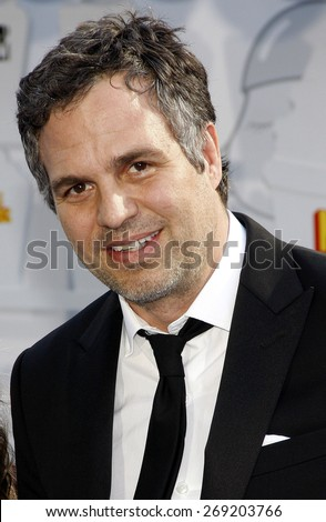 Mark Ruffalo at the 2015 MTV Movie Awards held at the Nokia Theatre L.A Live in Los Angeles USA on April 12 2015