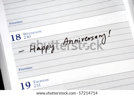 Mark the anniversary in the day planner