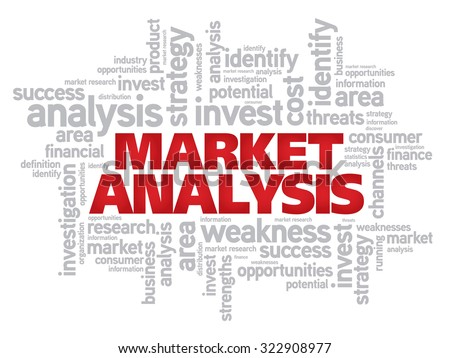 Market Analysis word cloud business concept background