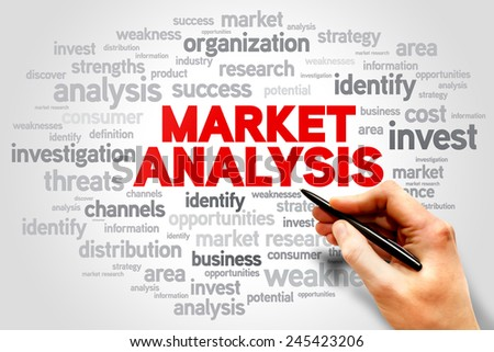 Market Analysis words cloud, business concept