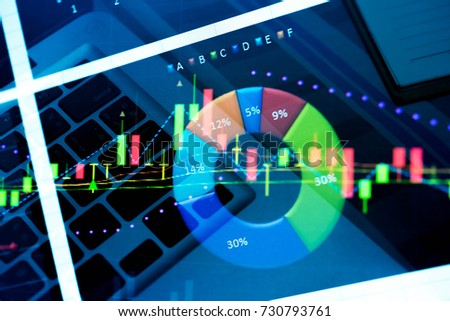 Market cost economy analysis background Economy stock exchange financial. Economy financial stock market exchange cost indicator on LED. Digital financial stock market cost exchange indicator analysis