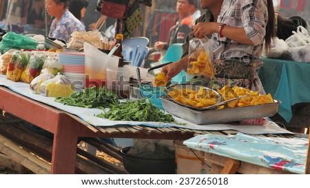 market/food shop at local market.