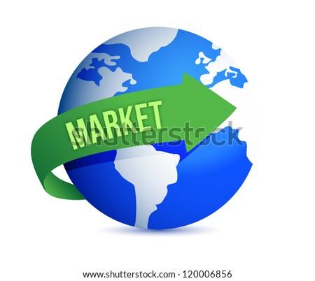 market globally illustration design over a white background