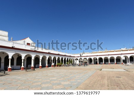 Market, old town of Carmona, Seville province, Andalusia, Spain #1379619797