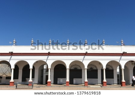 Market, old town of Carmona, Seville province, Andalusia, Spain #1379619818