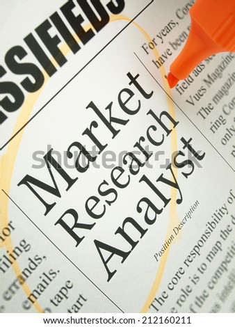 Market Research Analyst (job search)