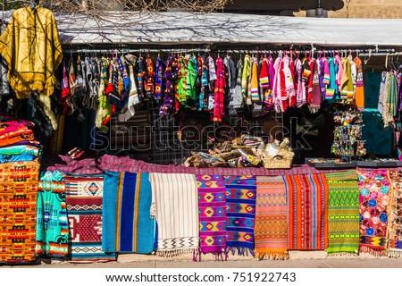 Market Scene in Santa Fe New Mexico