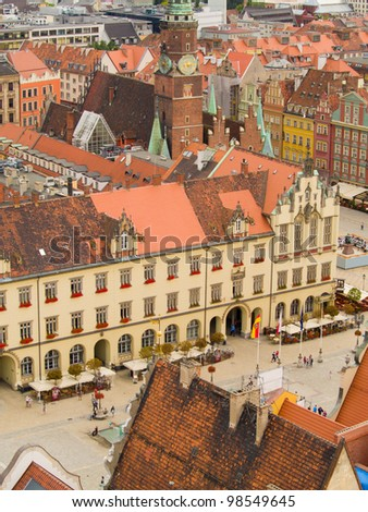 market square and city hall, Wroclaw, Poland