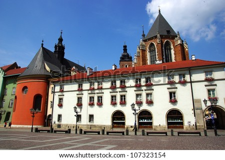 Market Square in Cracow, Old Town, Poland