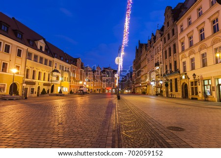 Market Square in Wroclaw. Wroclaw, Lower Silesian, Poland. #702059152