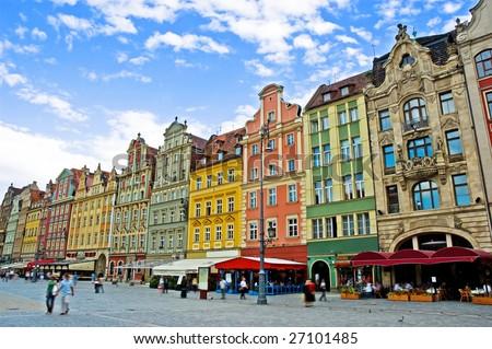 Market square  Wroclaw Poland
