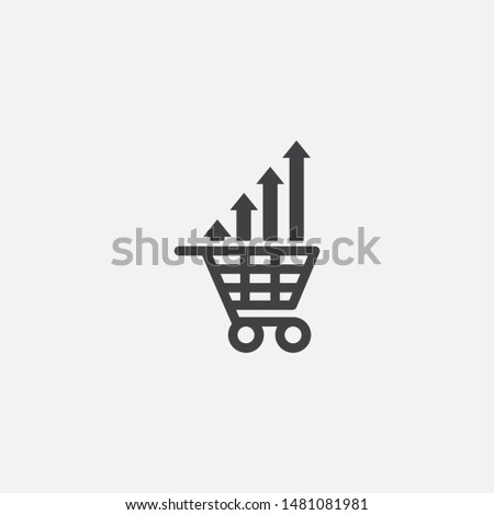 market trend base icon. Simple sign illustration. market trend symbol design. Can be used for web, print and mobile