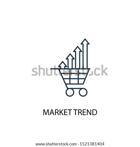 market trend concept line icon. Simple element illustration. market trend concept outline symbol design. Can be used for web and mobile UI/UX