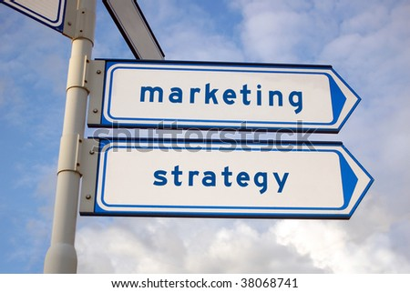 marketing and strategy arrow signs