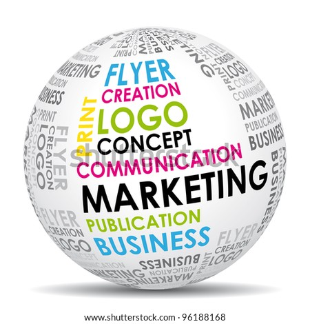 Marketing communication world icon.