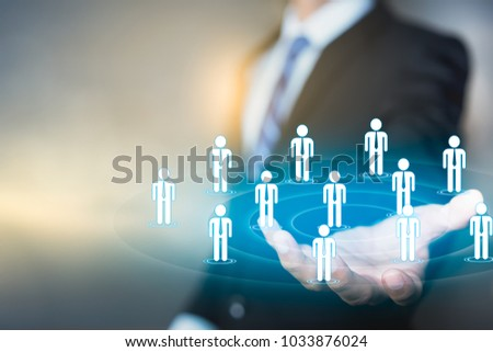 Marketing customer target audience concept, target audience, customers care, customer relationship management (CRM)