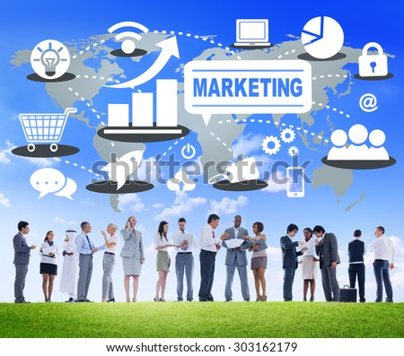 Marketing Global Business Branding Connection Growth Concept