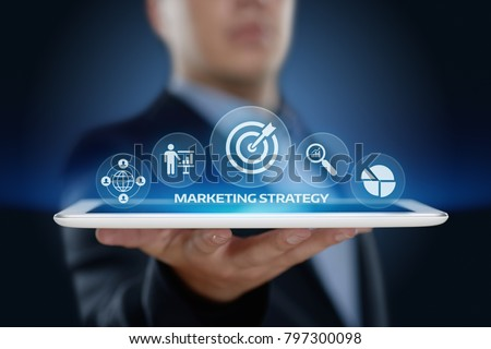 Marketing Strategy Business Advertising Plan Promotion concept. stock photo