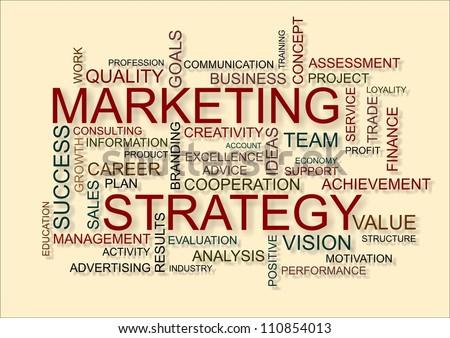 marketing strategy written in business word cloud
