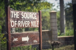 Marking of the path to the Nile river source.