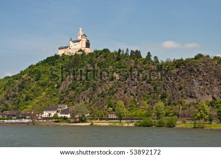 Marksburg in famous rhine valley
