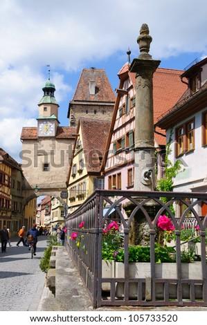 Markus Tower of Rothenburg ob der Tauber, Germany
